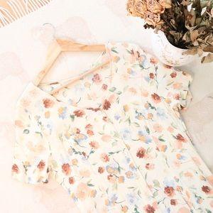 Vintage | Garden Floral 90s Dress